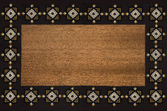 Brown frame with pattern Stock Image