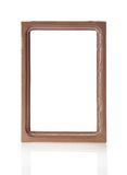 Brown frame for pictures or the photos Royalty Free Stock Photography