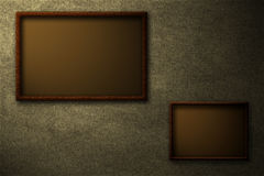Brown frames Stock Image