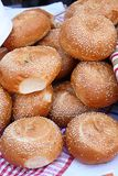 Bread loaves with sesame seeds Stock Photo