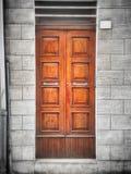 Brown Front Door de madera Fotografía de archivo libre de regalías