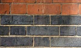 Brown & fundo cinzento do tijolo Foto de Stock Royalty Free