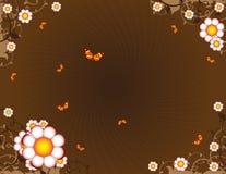 Brown, fundo floral ilustração do vetor