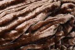 Brown fur as a background Stock Photos