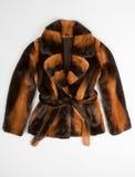 Brown fur coat Stock Photos