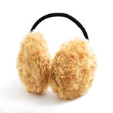 Brown Fuzzy Earmuffs Royalty Free Stock Photos