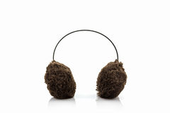 Brown fuzzy winter ear muff. Stock Images
