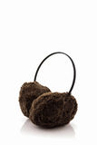 Brown fuzzy winter ear muff . Stock Image