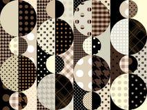 Brown géométrique Photo stock