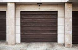 Brown garage gate Stock Photography