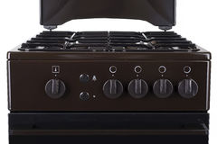 Brown gas stove isolated on a white background Stock Photo