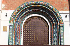 The brown gate of the Cathedral Royalty Free Stock Images