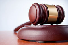 Brown gavel Royalty Free Stock Photography