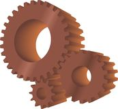 Brown gears Royalty Free Stock Photos