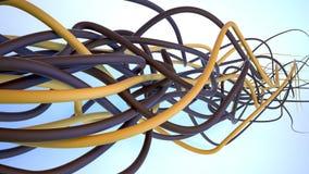 Brown-gelber Plexus Lizenzfreies Stockbild
