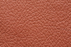 Brown genuine leather texture Stock Images