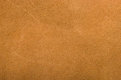 Brown genuine suede. Texture. Background Royalty Free Stock Image