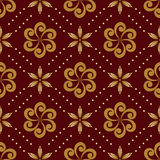 Brown geometric seamless texture - vector Royalty Free Stock Photos