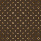 Brown geometric textile pattern Stock Photos