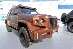 Brown george patton suv. George patton suv show at yacht club of xiamen city, china. this is a manly car Stock Images