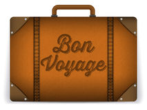 Brown-Gepäck-Taschen-Illustration stockfotografie