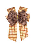 Brown gift bow isolated Stock Photo