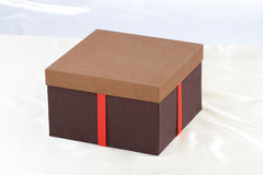 Brown gift box isolated  Stock Photography