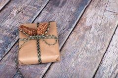 Brown Gift Box Stock Image