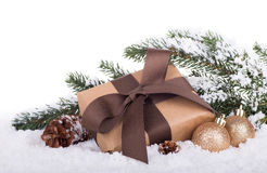 Brown Gift Box Royalty Free Stock Photo