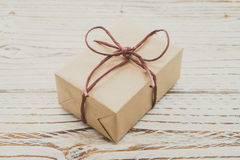 Brown gift box Stock Photography