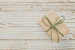 Brown gift box Stock Photos