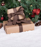 Brown Gift Boxes Royalty Free Stock Image