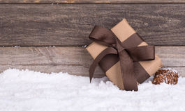 Brown Gift Package Royalty Free Stock Photos