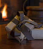 Brown Gift Package Stock Photos