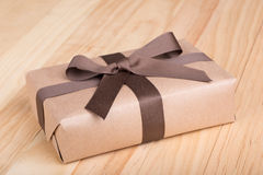 Brown Gift Package Stock Photo