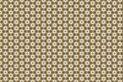 Brown gift wrapping paper with ornaments seamless Royalty Free Stock Photography