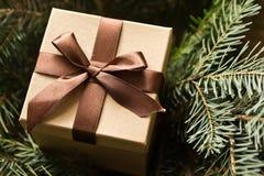 Brown giftbox Stock Photography