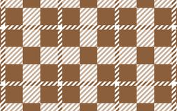 Brown Gingham pattern. Texture from rhombus for - plaid, tablecloths,shirts,dresses,paper,bedding,blankets,quilts and other. Textile products.Vector stock illustration