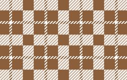 Brown Gingham pattern. Texture from rhombus for - plaid, tablecloths,shirts,dresses,paper,bedding,blankets,quilts and other. Textile products.Vector royalty free illustration