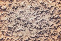 Brown gipsuje betonowej ściany teksturę w bezszwowym szorstkim wzorów, bielu lub szarość sztuki abstrakta tle, obraz stock