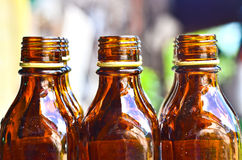 Brown glass bottle Stock Images
