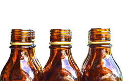 Brown glass bottle Royalty Free Stock Photography