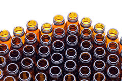 Brown glass bottles Stock Photos