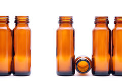 Brown glass bottles Royalty Free Stock Photography
