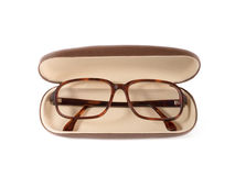 Brown glasses Stock Photo