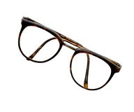 Brown glasses isolated on white with clipping paths Royalty Free Stock Photography