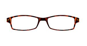 Brown glasses isolated on white with clipping paths for the fram Royalty Free Stock Image