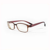 Brown glasses on white Stock Images