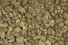 Brown glinianej ziemi tło Zdjęcia Royalty Free