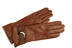 Brown glove. On a white background Royalty Free Stock Image